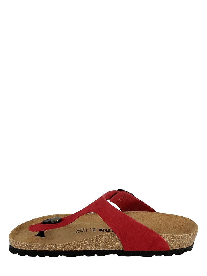 BAYTON Leder-Zehentrenner in Rot