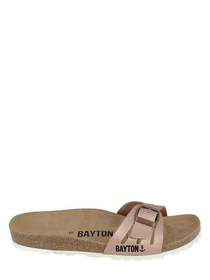 BAYTON Leder-Pantoletten in Kupfer