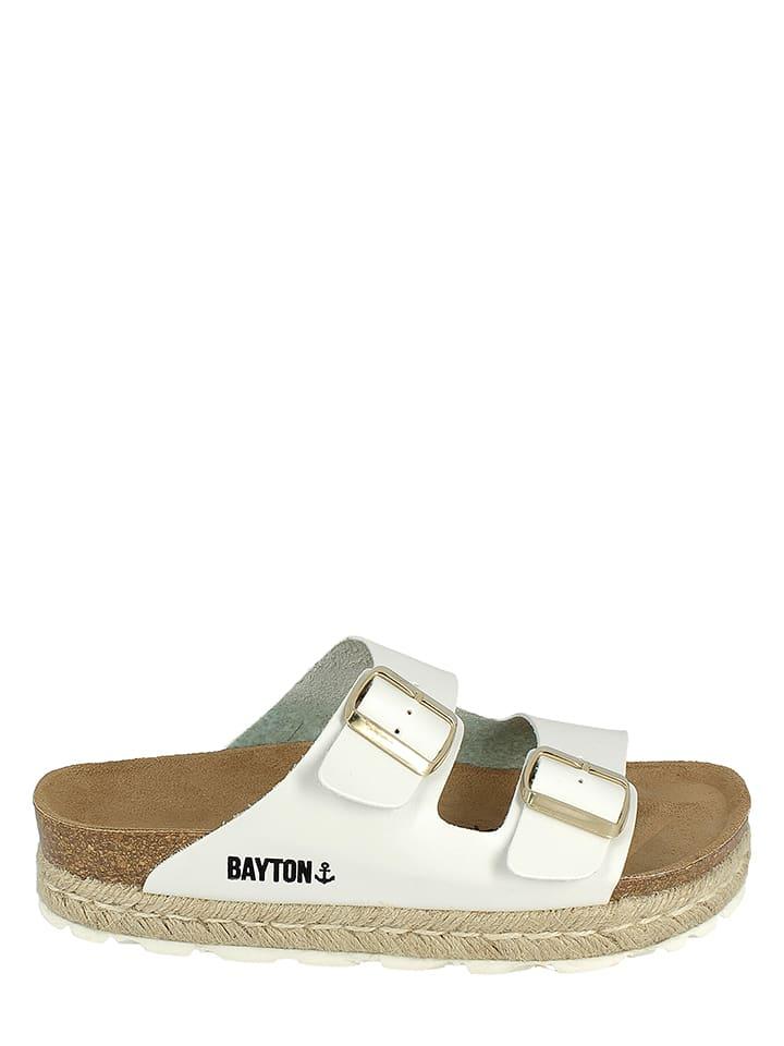 BAYTON Leder-Pantoletten in Weiß