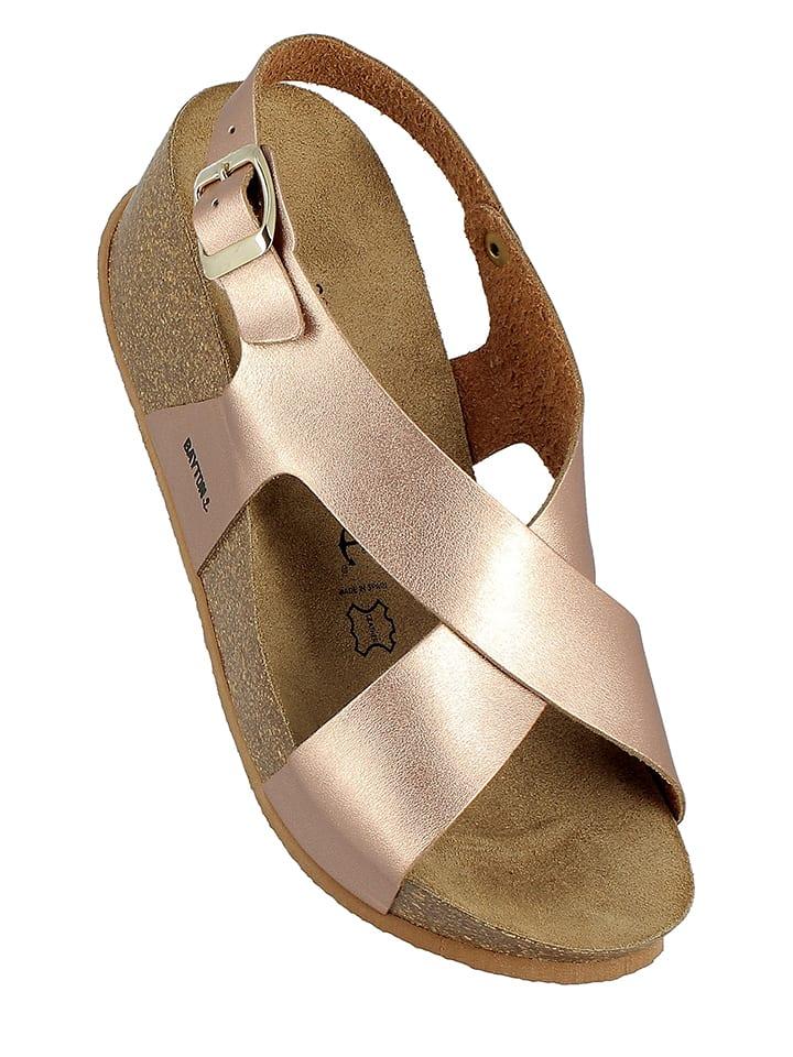 BAYTON Leder-Sandaletten in Bronze