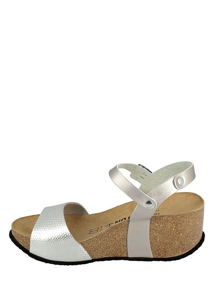 BAYTON Keil-Sandaletten in Silber