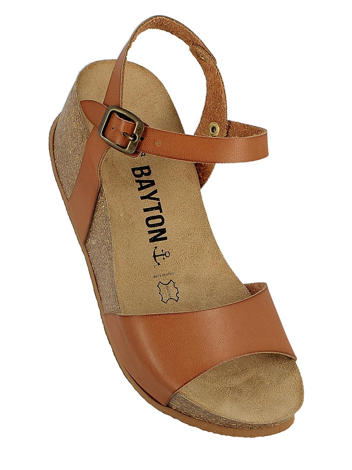 BAYTON Leder-Sandaletten in Braun