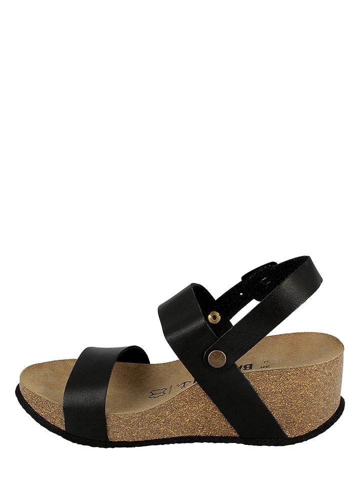 BAYTON Leder-Sandaletten in Schwarz