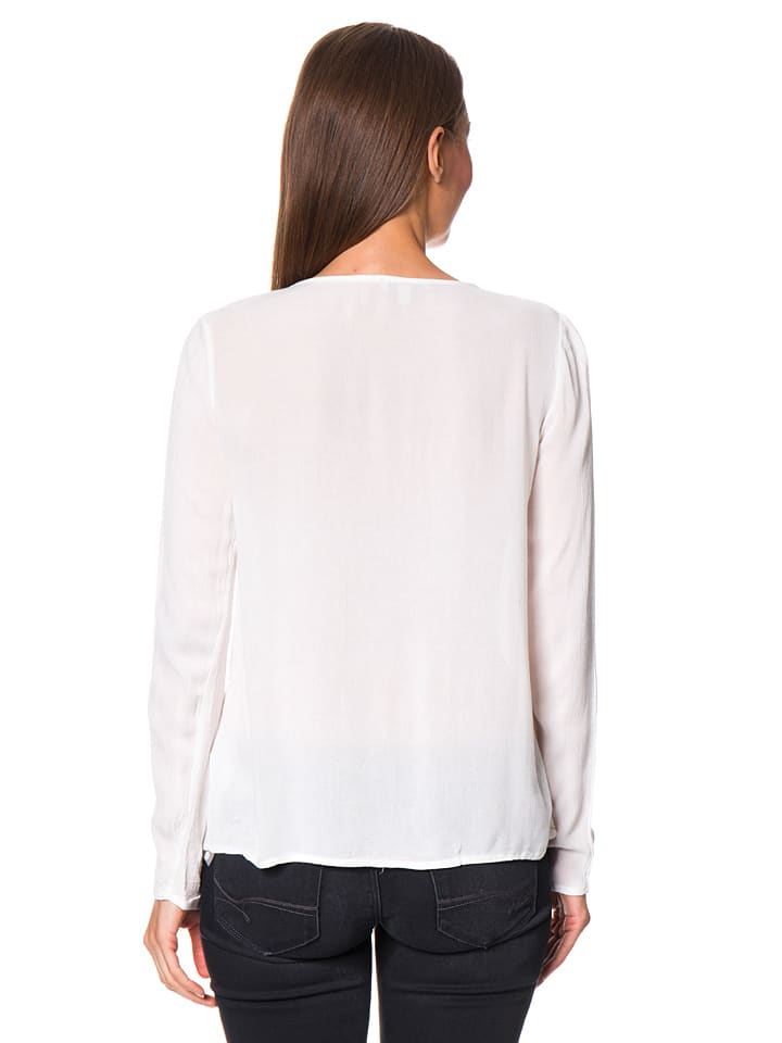 Mavi Jeans Bluse in Weiß