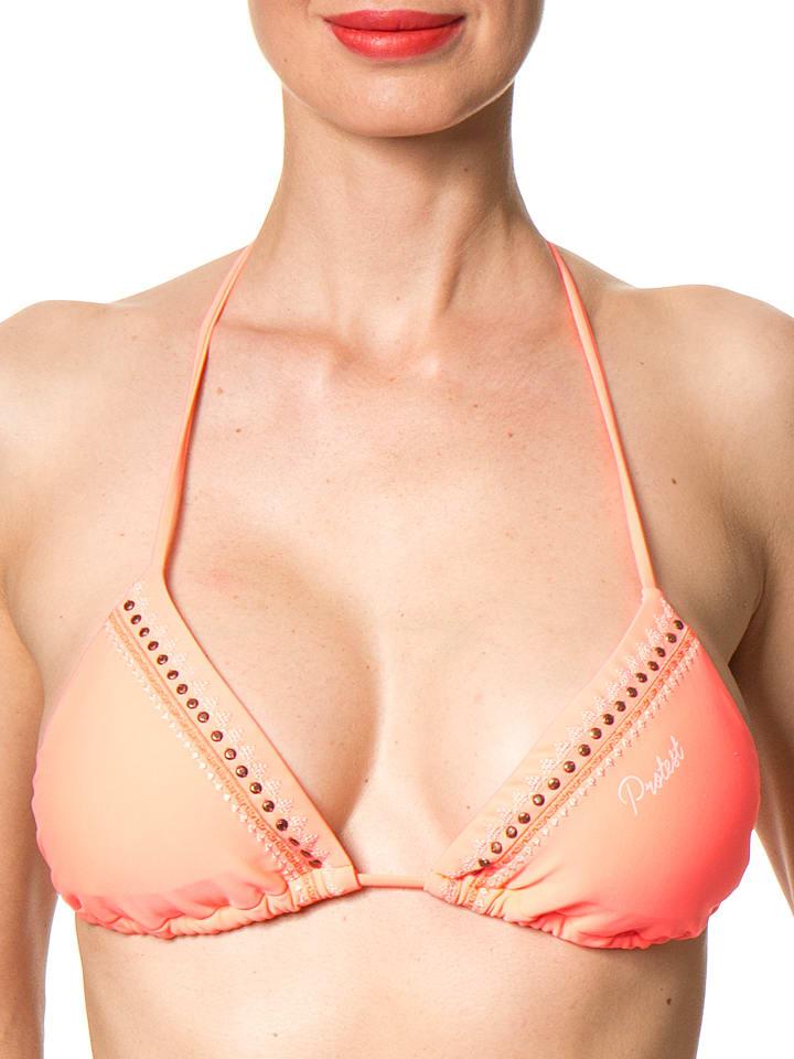 Protest Bikini-Oberteil Forro in Koralle