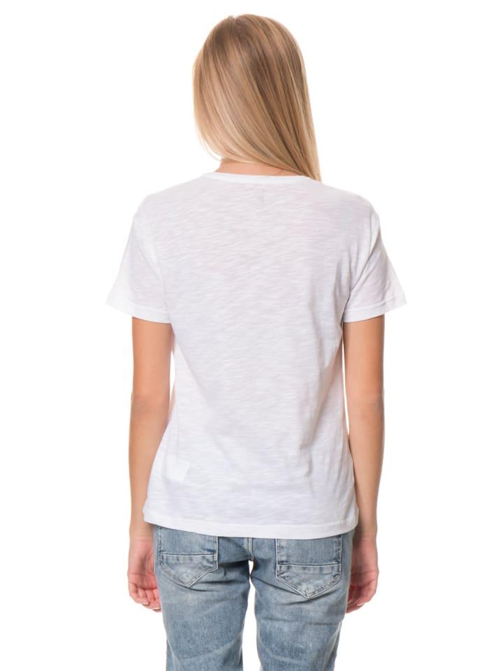 Billabong Shirt Basic Tee in Weiß/ Rot