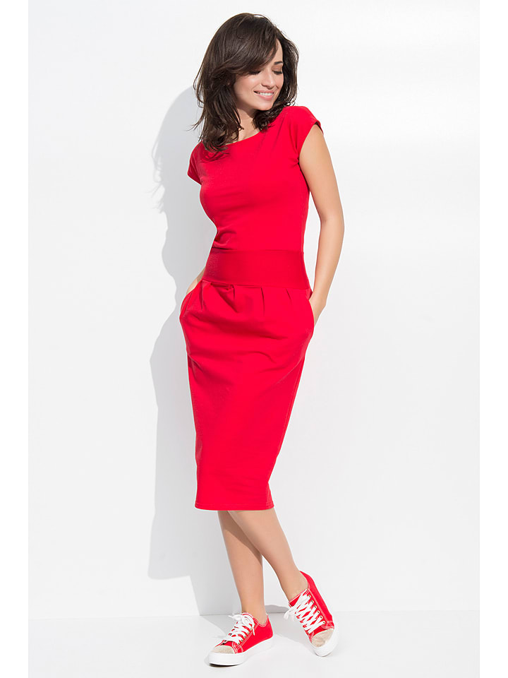 Numinou Kleid in Rot