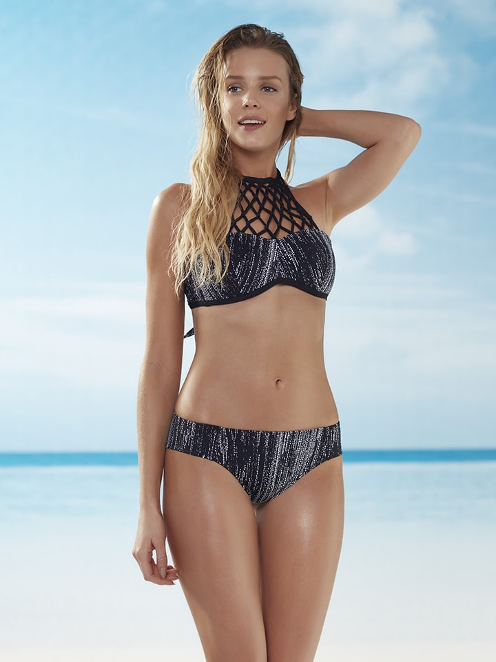 """ESOTIQ Bikini-Slip """"Khalesi"""" in Schwarz"""