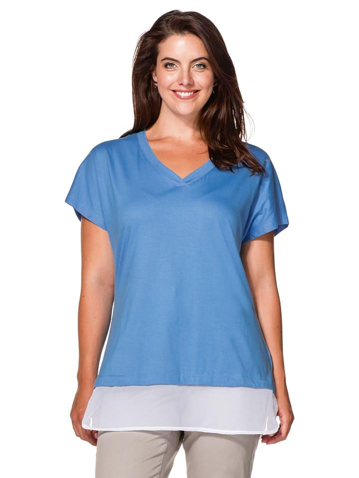 Sheego Shirt in Blau