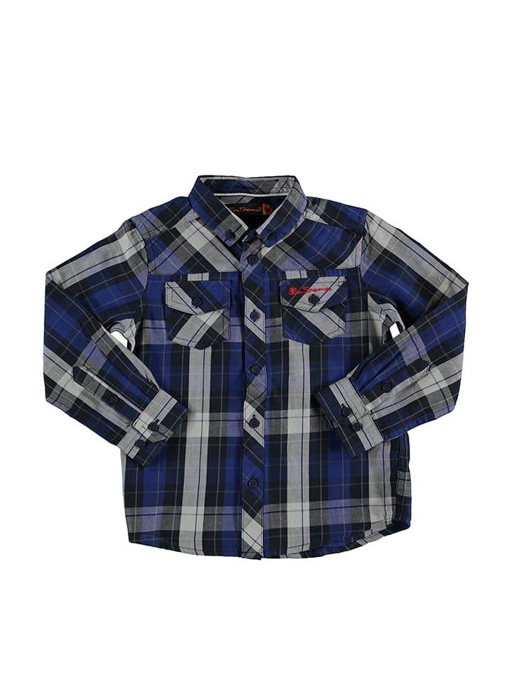 Ben Sherman Hemd in Blau/ Schwarz/ Grau