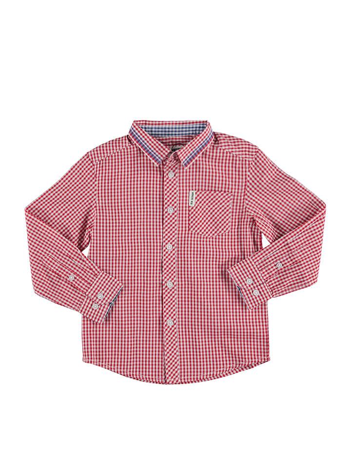 Ben Sherman Hemd in Rot/ Weiß