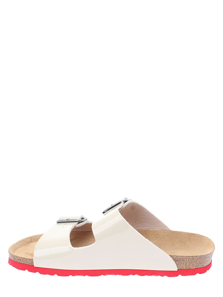 BACKSUN Pantoletten in Creme