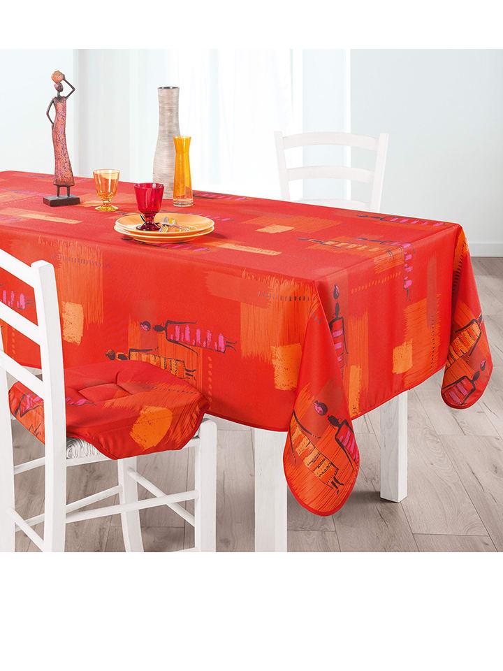 Douceur d int rieur tafelkleed jaya rood limango outlet for Douceur interieur