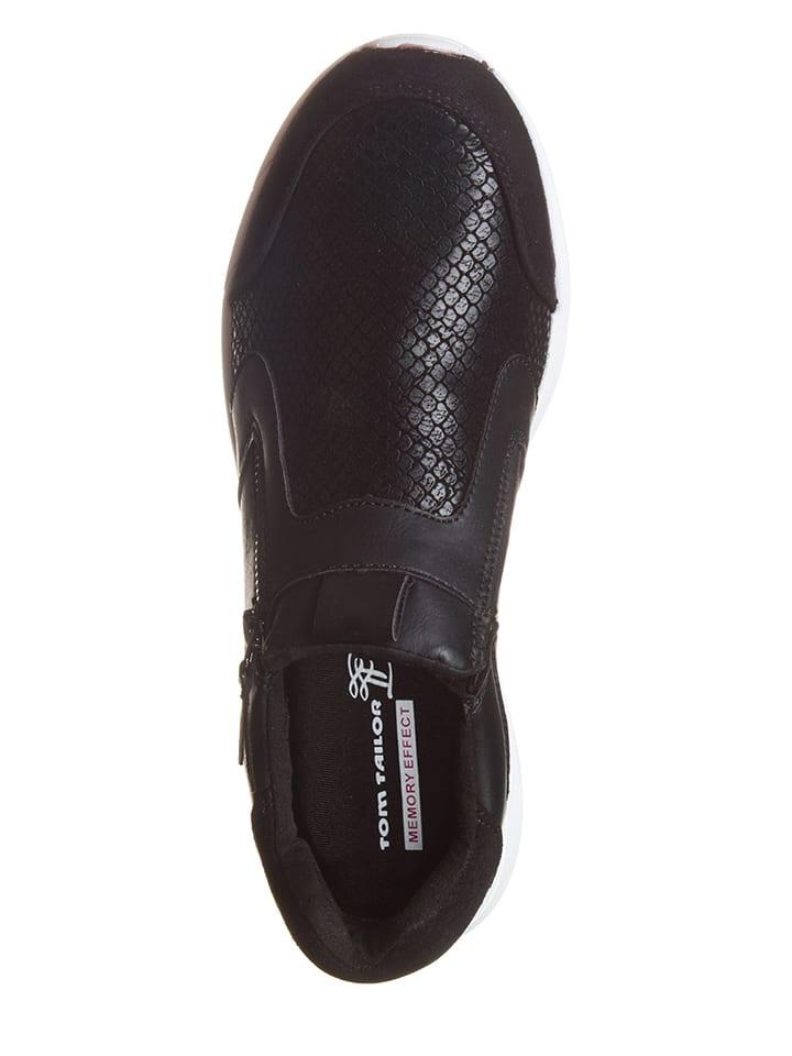 Tom Tailor Sneakers in Schwarz