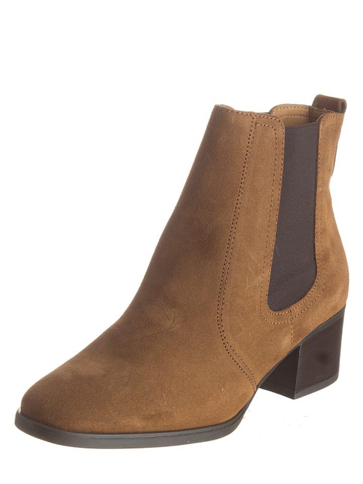 "ESPRIT Leder-Chelsea-Boots ""Laurie Bootie"" in Cognac"
