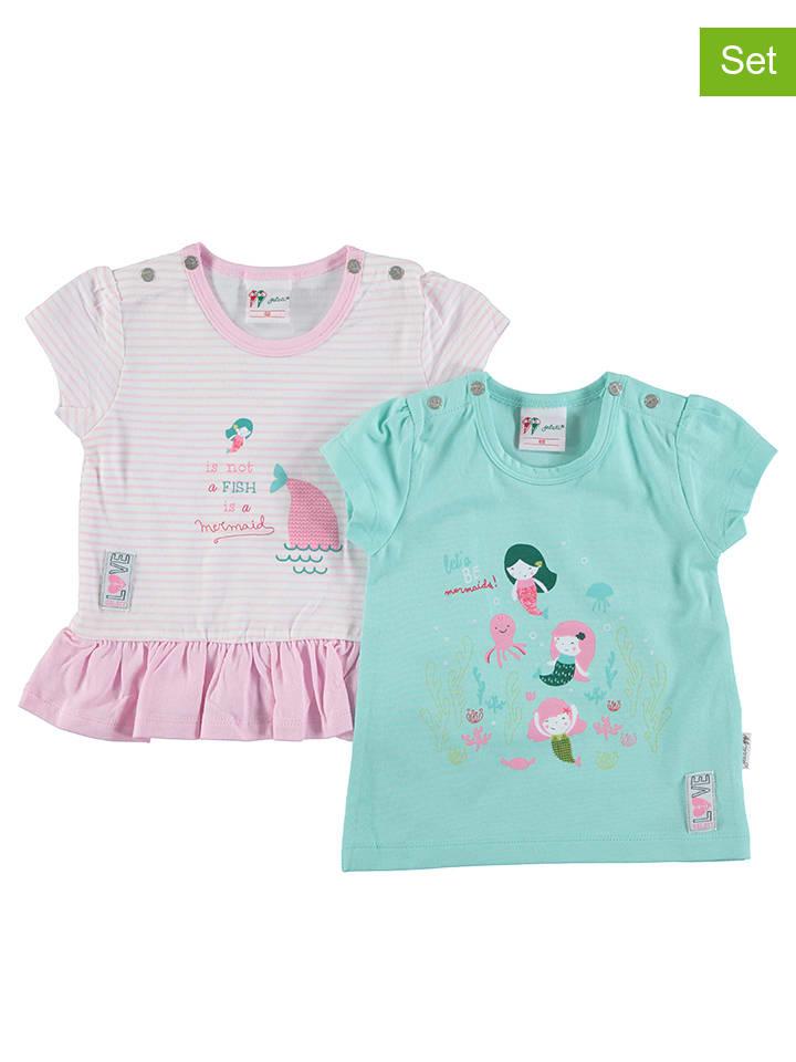 Gelati 2er-Set: Shirts in Rosa/ Mint