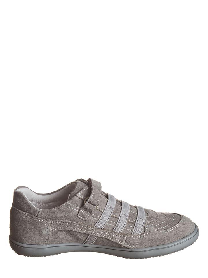 Richter Shoes Leder-Sneakers in Grau