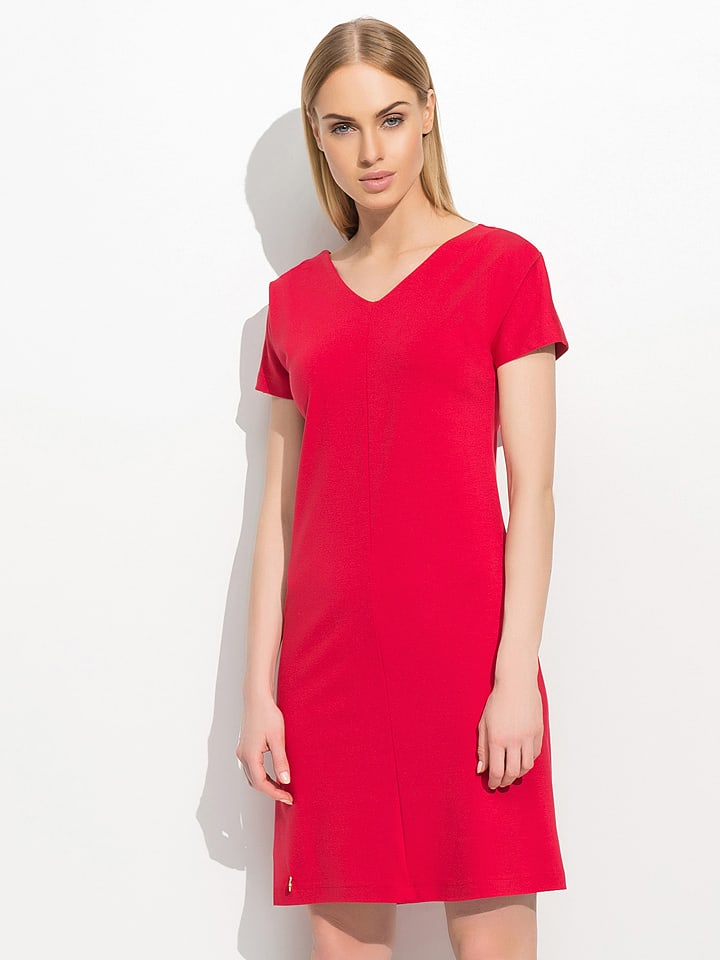 Makadamia Kleid in Rot