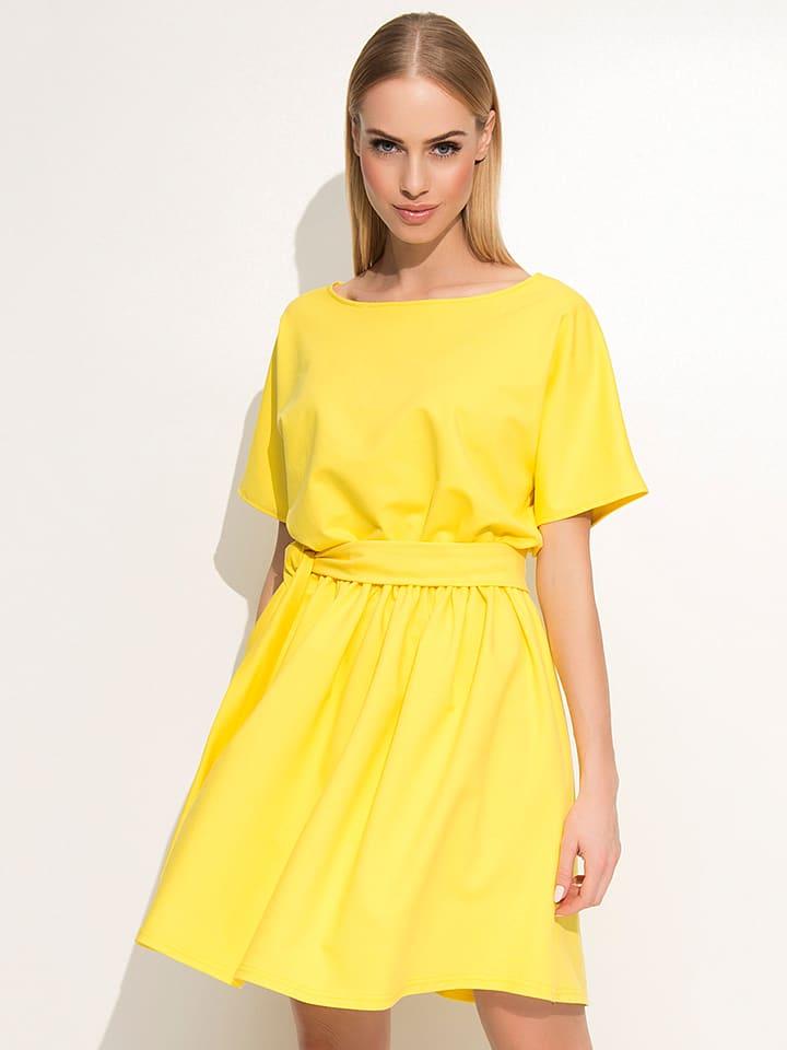 Makadamia Kleid in Gelb