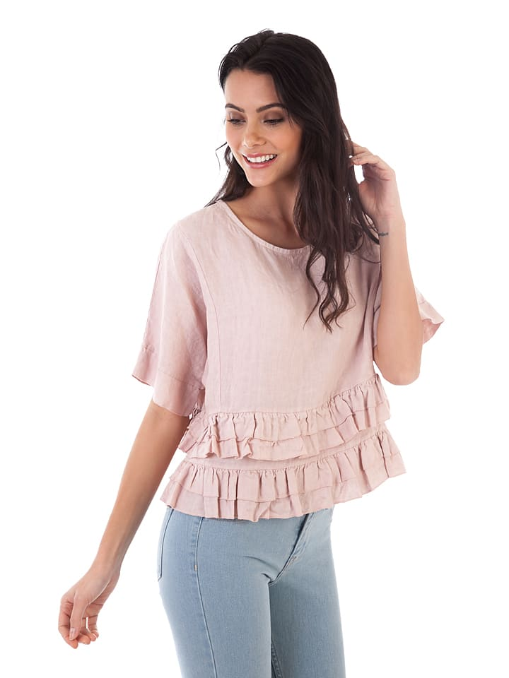 Lin Passion Leinen-Shirt in Rosa