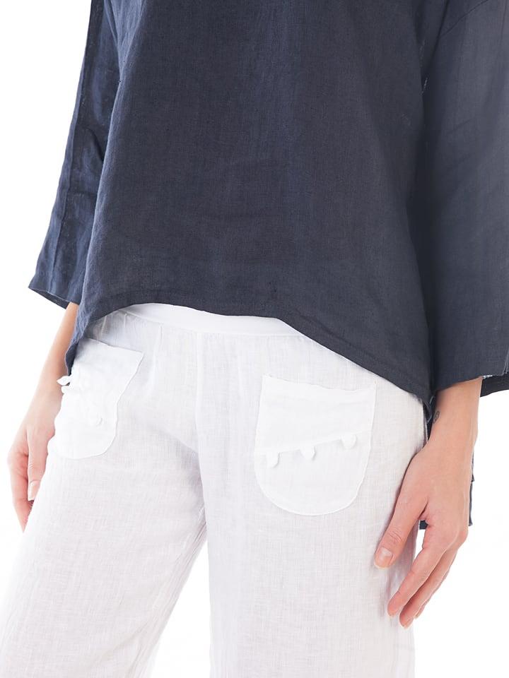Lin Passion Leinen-Shirt in Dunkelblau