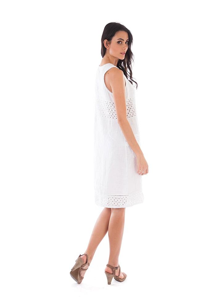 Lin Passion Leinen-Kleid in Weiß