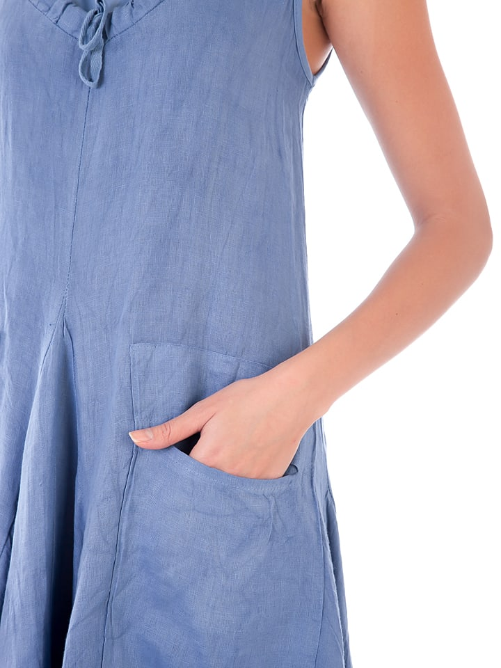 Lin Passion Leinen-Kleid in Hellblau