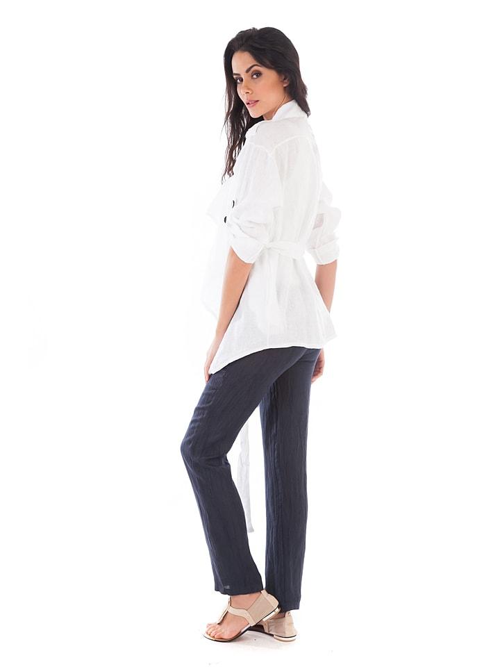 Lin Passion Leinen-Jacke in Weiß