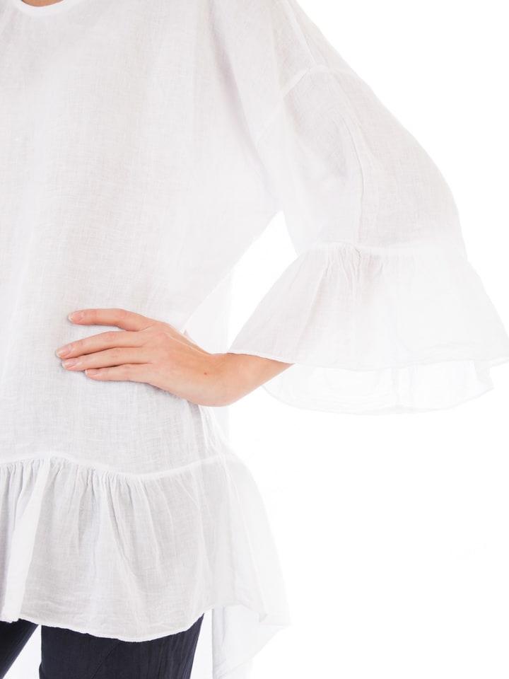 Lin Passion Leinen-Tunika in Weiß