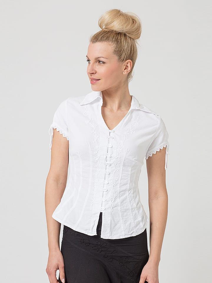 """LA COTONNIERE Bluse """"Estelle"""" in Weiß"""