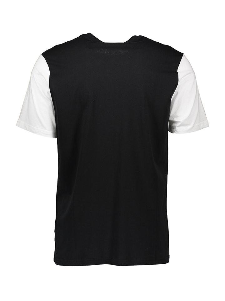 """Bench Shirt """"Displaced Logo"""" in Schwarz/ Weiß"""