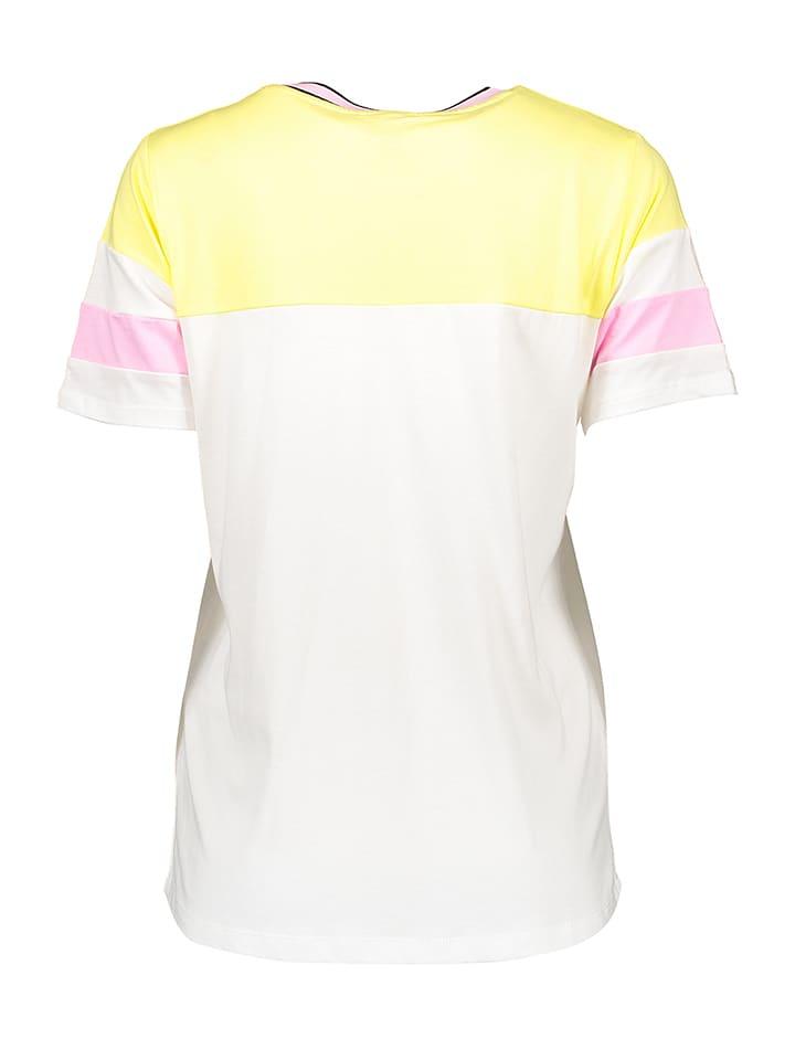 "Bench Shirt ""Colorblock"" in Weiß/ Gelb/ Rosa"