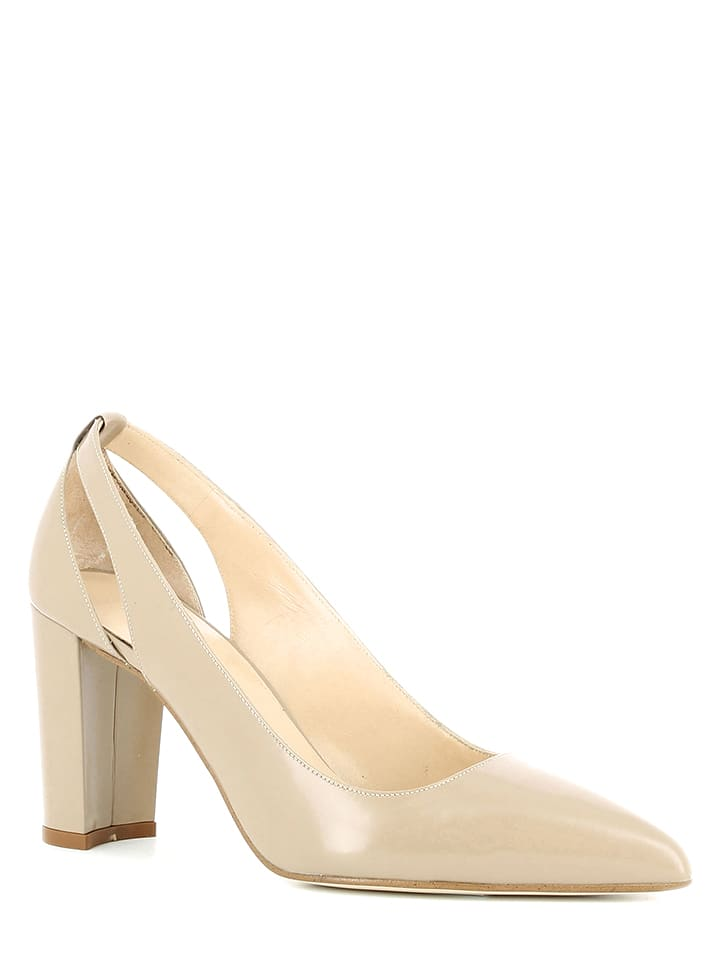 JONAK Leder-Pumps in Creme
