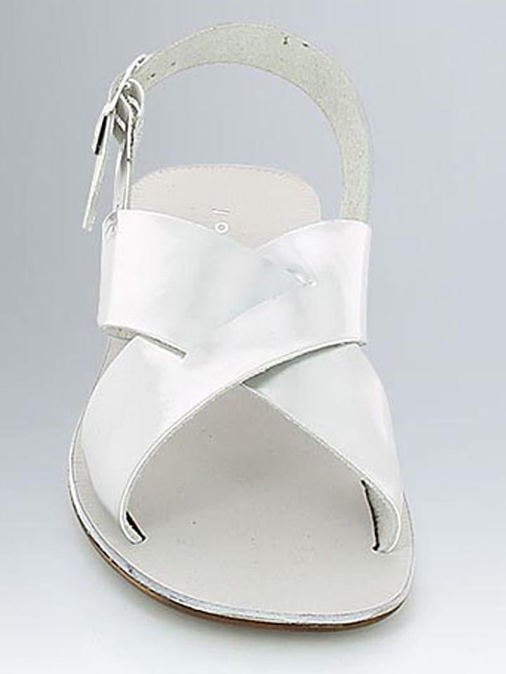 JONAK Leder-Sandalen in Silber