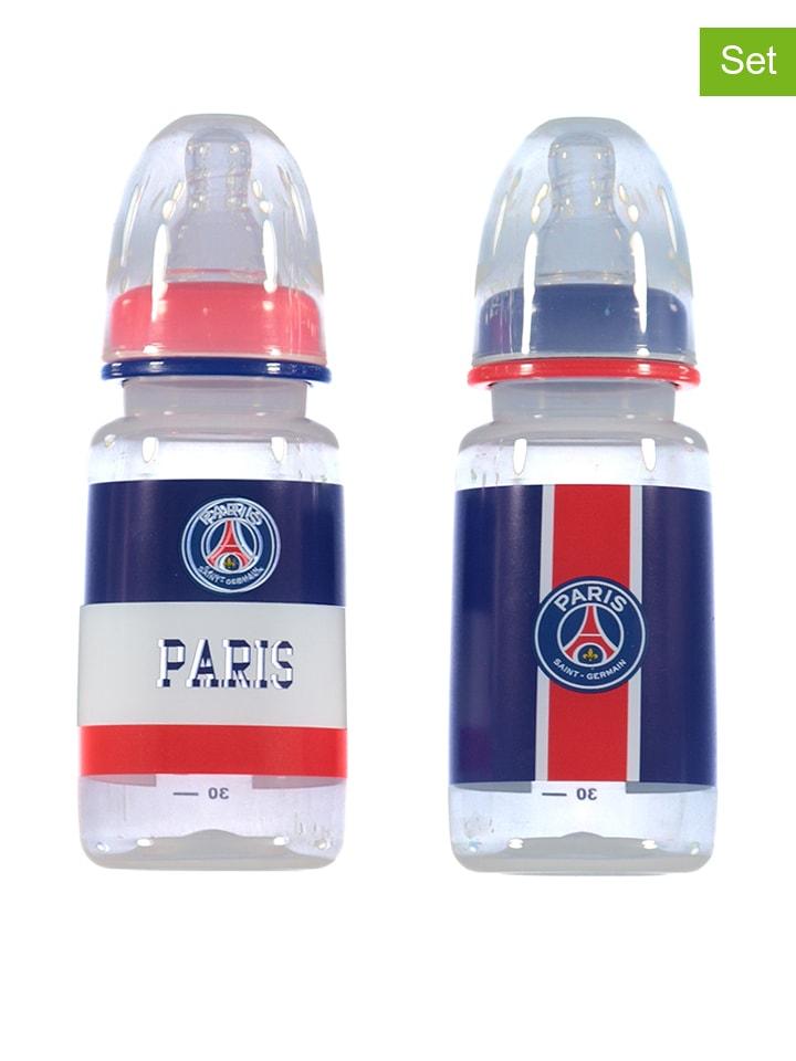 Paris Saint-Germain Lot de 2: biberons - bleu/rouge - 2x 150 ml