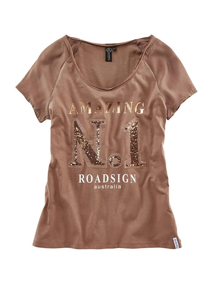 Roadsign Shirt in Hellbraun