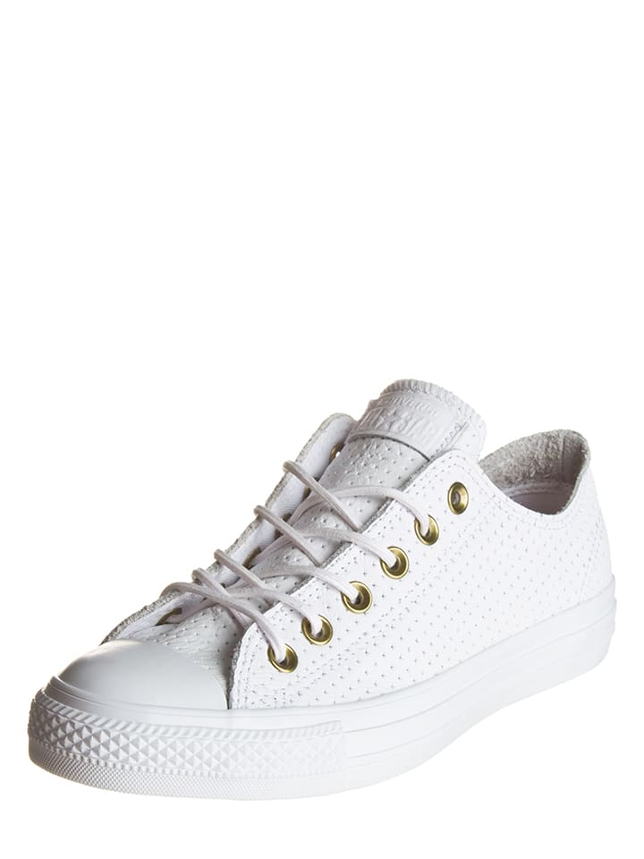 """Converse Leren sneakers """"Ctas Ox"""" wit"""