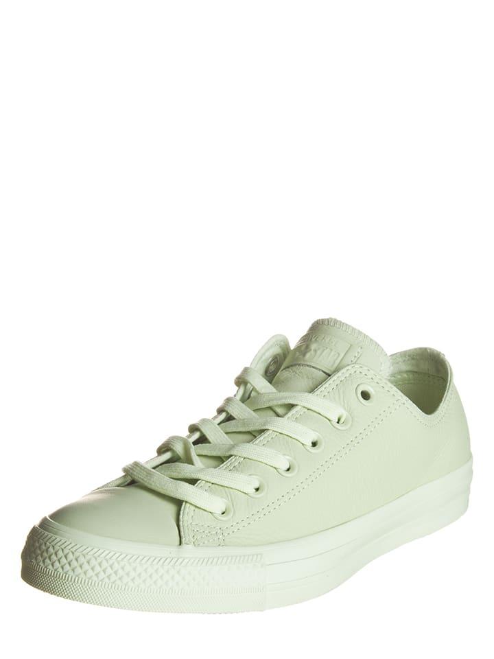 "Converse Leder-Sneakers ""Ctas Ox"" in Hellgrün"
