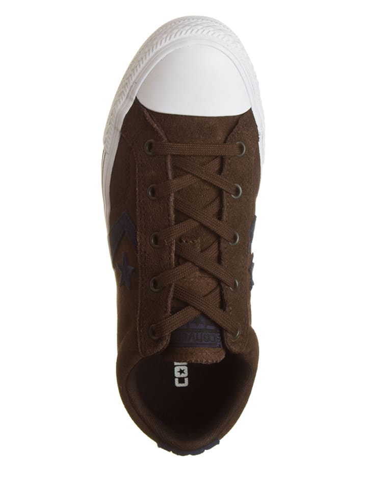 "Converse Leder-Sneakers ""Star Player"" in Braun"