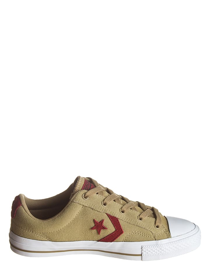 """Converse Leder-Sneakers """"Star Player"""" in Sand"""