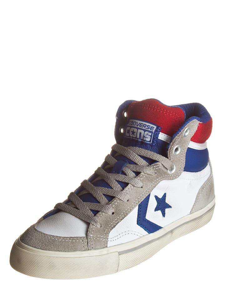 """Converse Leren sneakers """"Pro Blaze"""" beige/wit/blauw"""