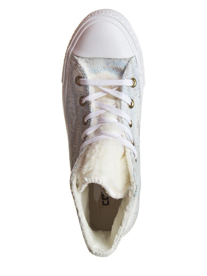 """Converse Sneakers """"Ctas Winter"""" in Weiß/ Hellblau"""