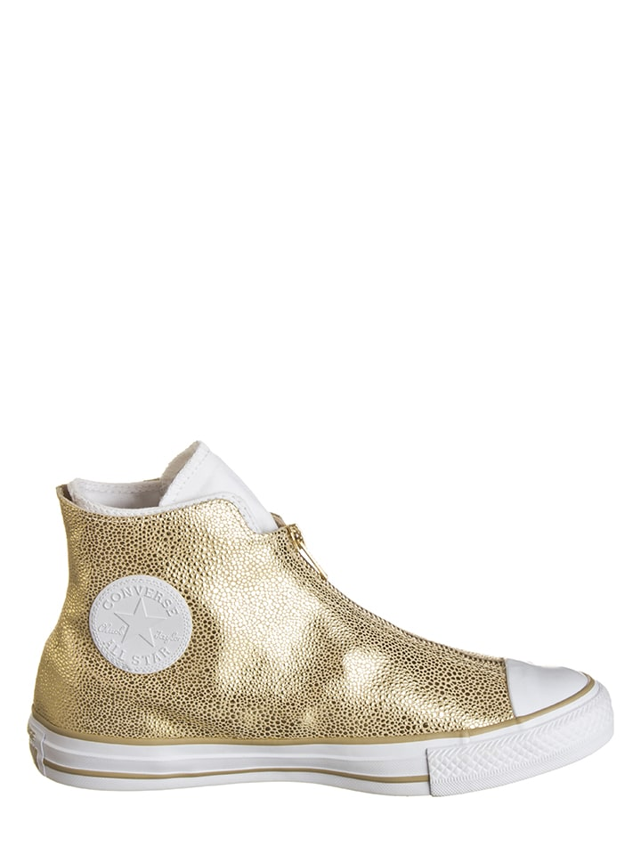 """Converse Leder-Sneakers """"Classic Shroud"""" in Gold"""