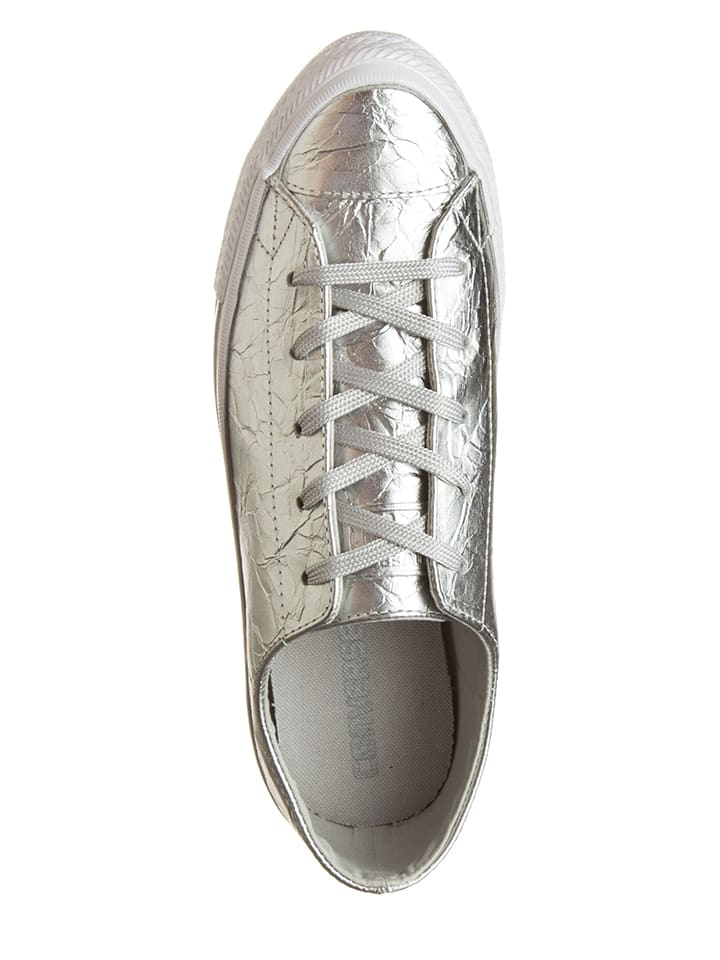 "Converse Leder-Sneakers ""Ctas Gemma Ox"" in Silber"