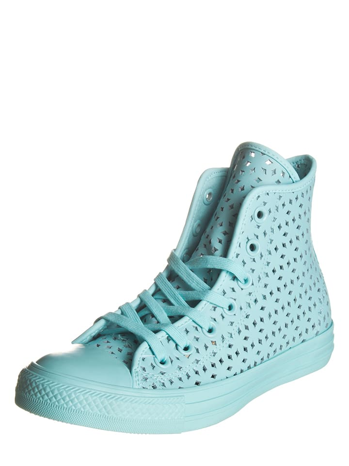 """Converse Leder-Sneakers """"Motel Pool"""" in Hellblau"""