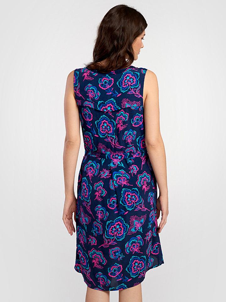 Hatley Kleid in Dunkelblau/ Bunt