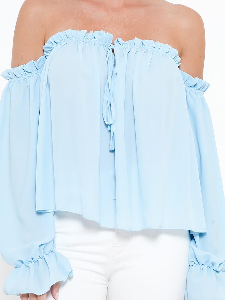 "She's Secret Shirt ""Jade"" in Hellblau"