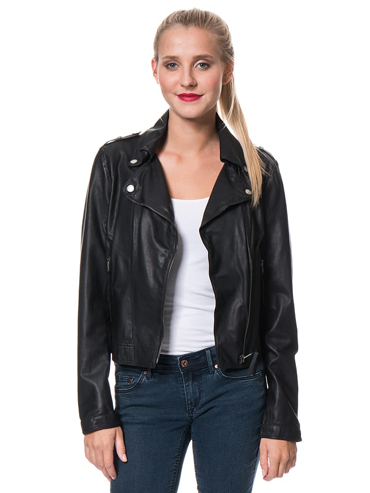 "FREAKY NATION Lederjacke ""Blow away"" in Schwarz"