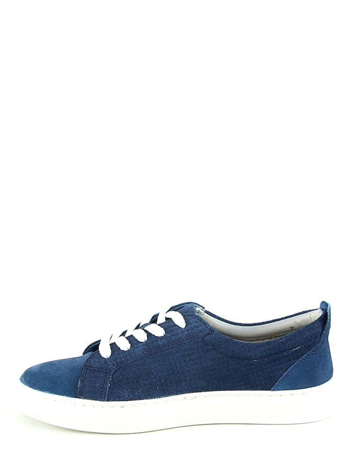 Manoukian Leder-Sneakers in Blau