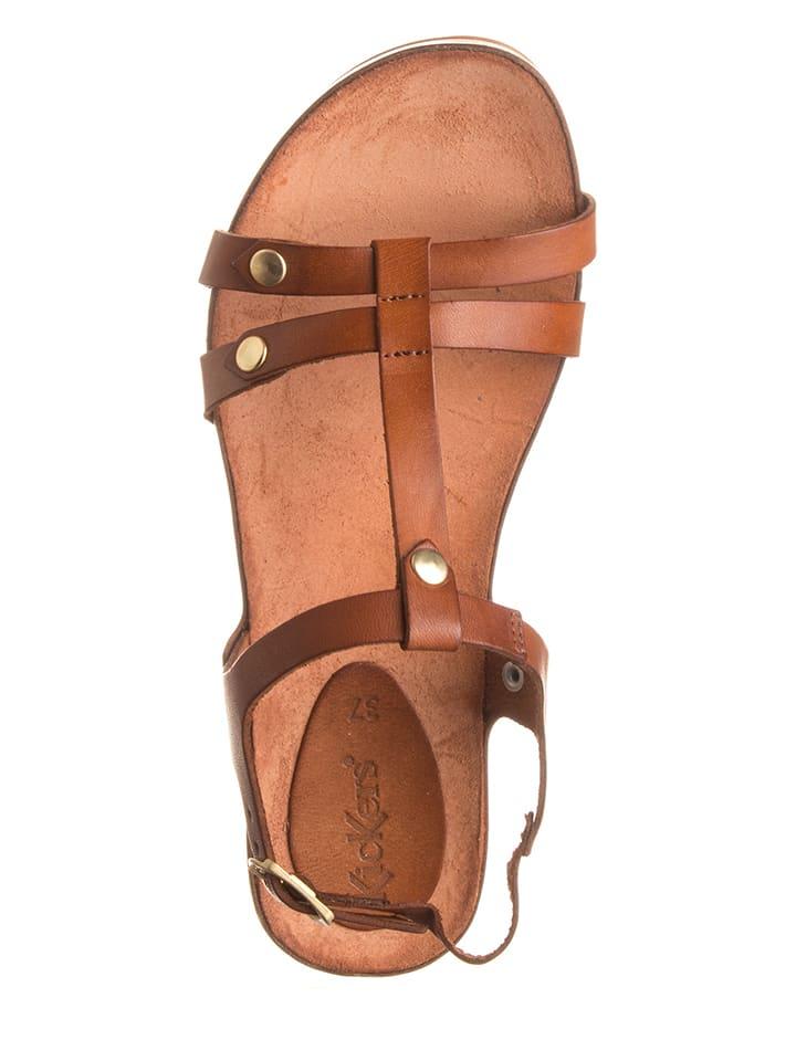 "Kickers Leder-Sandaletten ""Takit"" in Hellbraun"